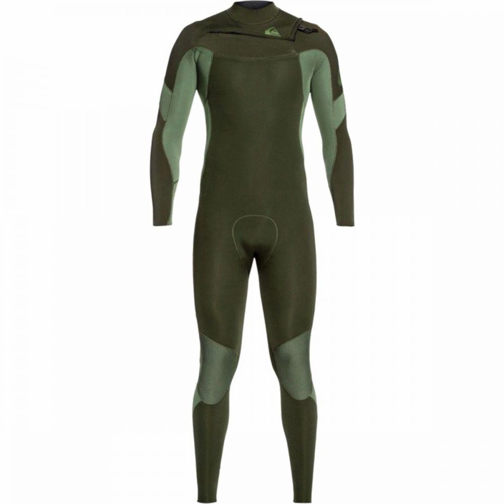 クイックシルバー Quiksilver メンズ ウェットスーツ 水着・ビーチウェア【4/3 syncro chest - zip gbs wetsuit】Dark Ivy/Shade Olive