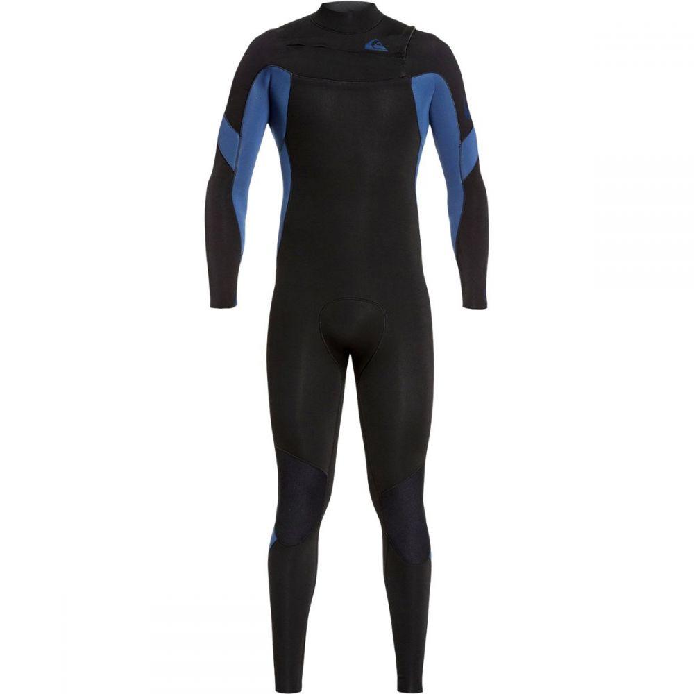 クイックシルバー Quiksilver メンズ ウェットスーツ 水着・ビーチウェア【3/2 syncro chest zip gbs wetsuit】Black Black/Iodine Blue Iodine