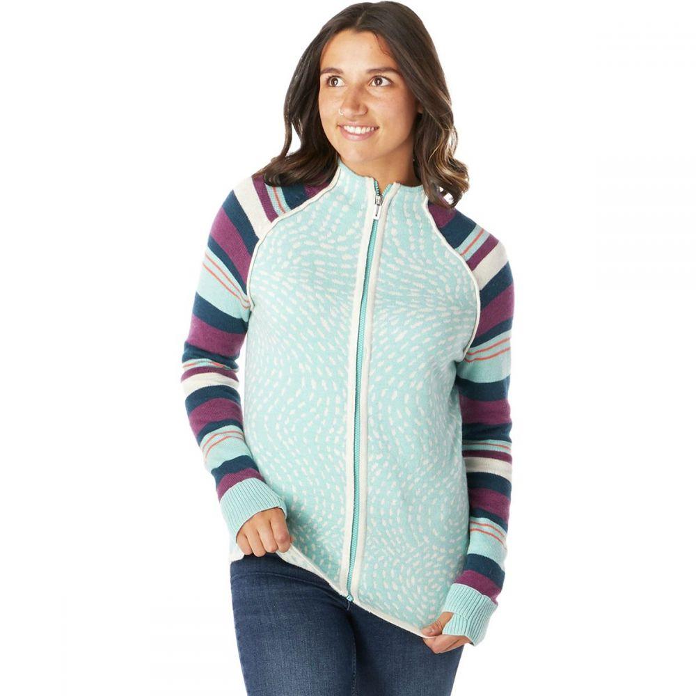 スマートウール Smartwool レディース スキー・スノーボード ニット・セーター トップス【dacono ski full - zip sweater】Nile Blue Heather