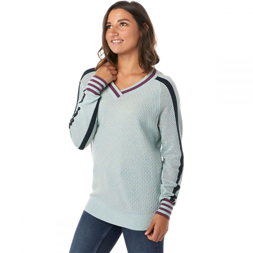 スマートウール Smartwool レディース ニット・セーター Vネック トップス【frosted valley v - neck sweater】Frosty Green Heather