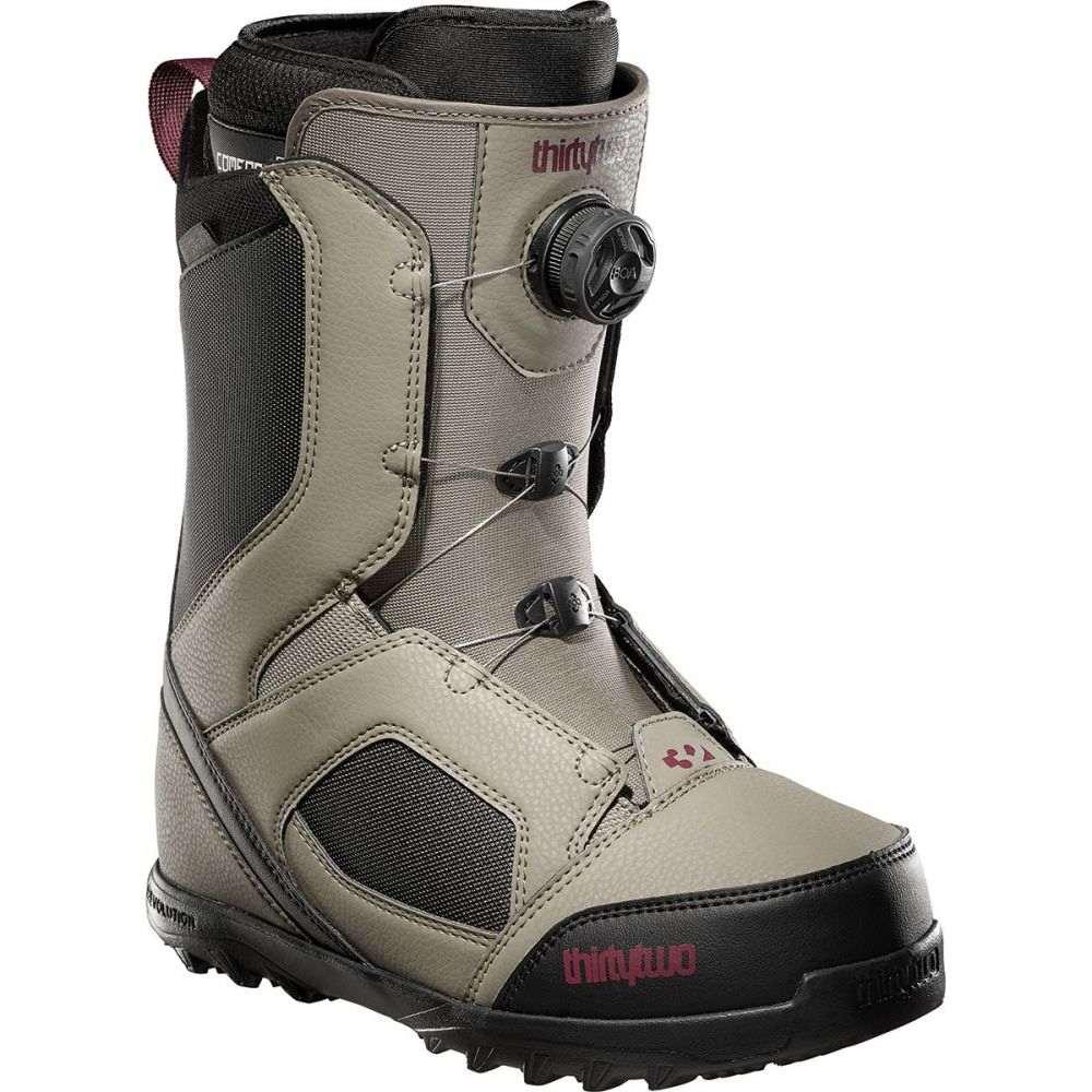 サーティーツー ThirtyTwo メンズ スキー・スノーボード ブーツ シューズ・靴【stw boa snowboard boot】Warm Grey/Black