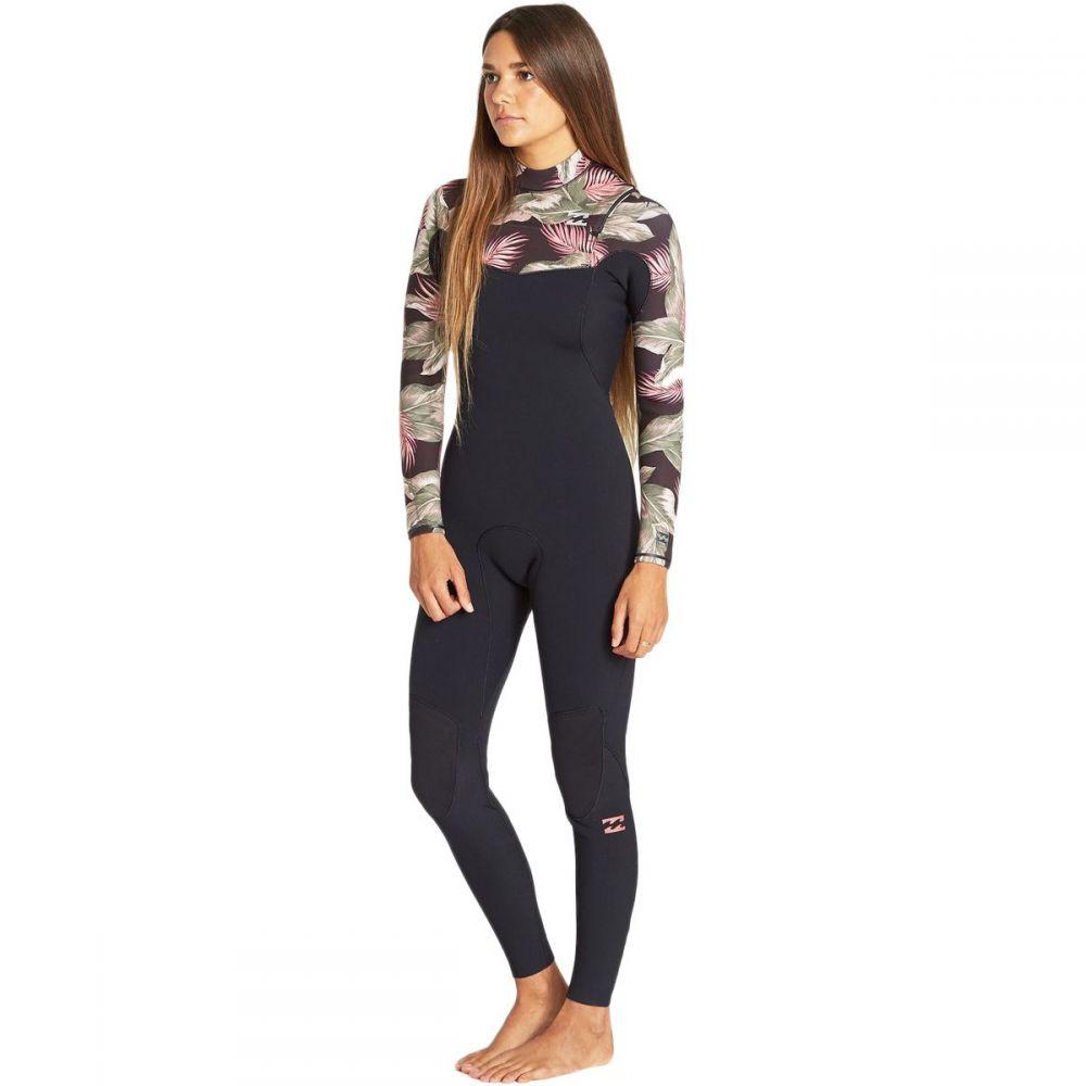 ビラボン Billabong レディース ウェットスーツ フルスーツ 水着・ビーチウェア【4/3 furnace carbon comp chest - zip full wetsuit】Black Palms