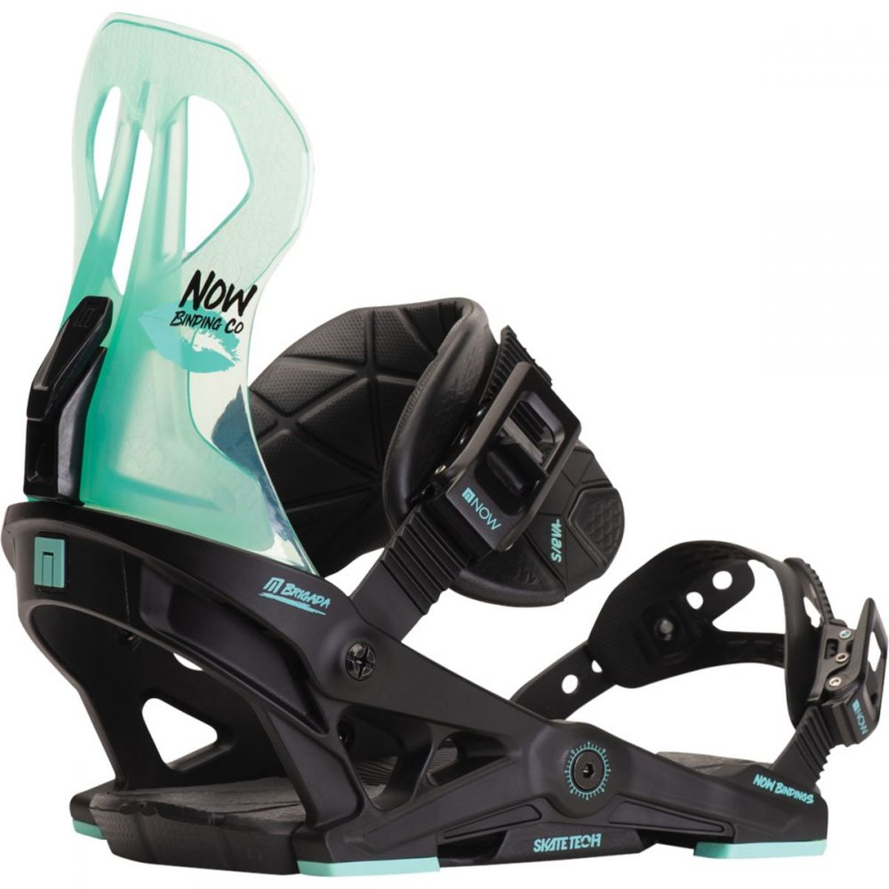ナウ Now レディース スキー・スノーボード ビンディング【brigada snowboard binding】Black/Turquoise