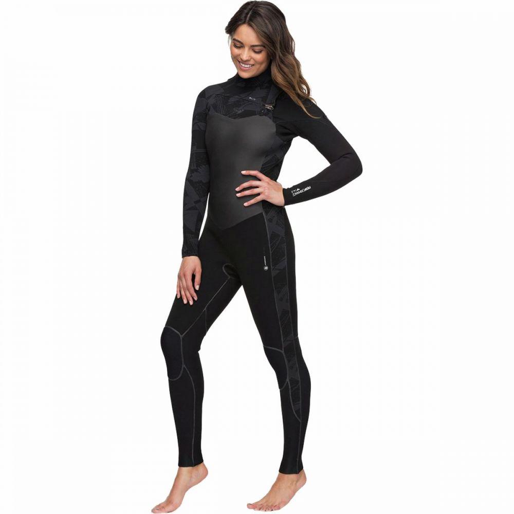 ロキシー Roxy レディース ウェットスーツ 水着・ビーチウェア【4/3 performance chest - zip hydrolock wetsuit】Black/Black