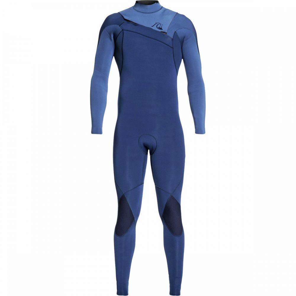 クイックシルバー Quiksilver メンズ ウェットスーツ 水着・ビーチウェア【3/2 highline limited monochrome chest - zip wetsuit】Iodine Blue/Cascade Blue
