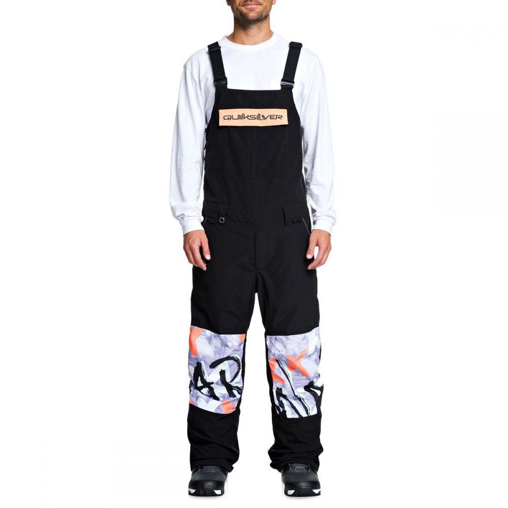 クイックシルバー Quiksilver メンズ スキー・スノーボード ビブパンツ ボトムス・パンツ【anniversary bib pant】Black