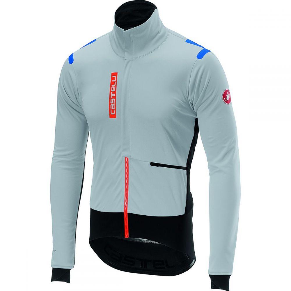 カステリ Castelli メンズ 自転車 ジャケット アウター【alpha ros jacket】Silver Gray/Black