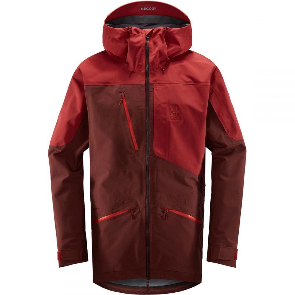ホグロフス Haglofs メンズ スキー・スノーボード コート アウター【nengal 3l proof parka】Maroon Red/Brick Red