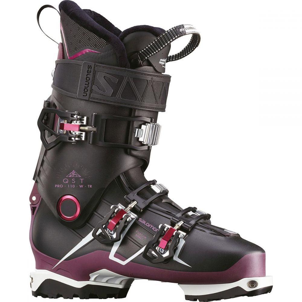 サロモン Salomon レディース スキー・スノーボード ブーツ シューズ・靴【qst pro 110 tr ski boot】Black/Burgundy/White