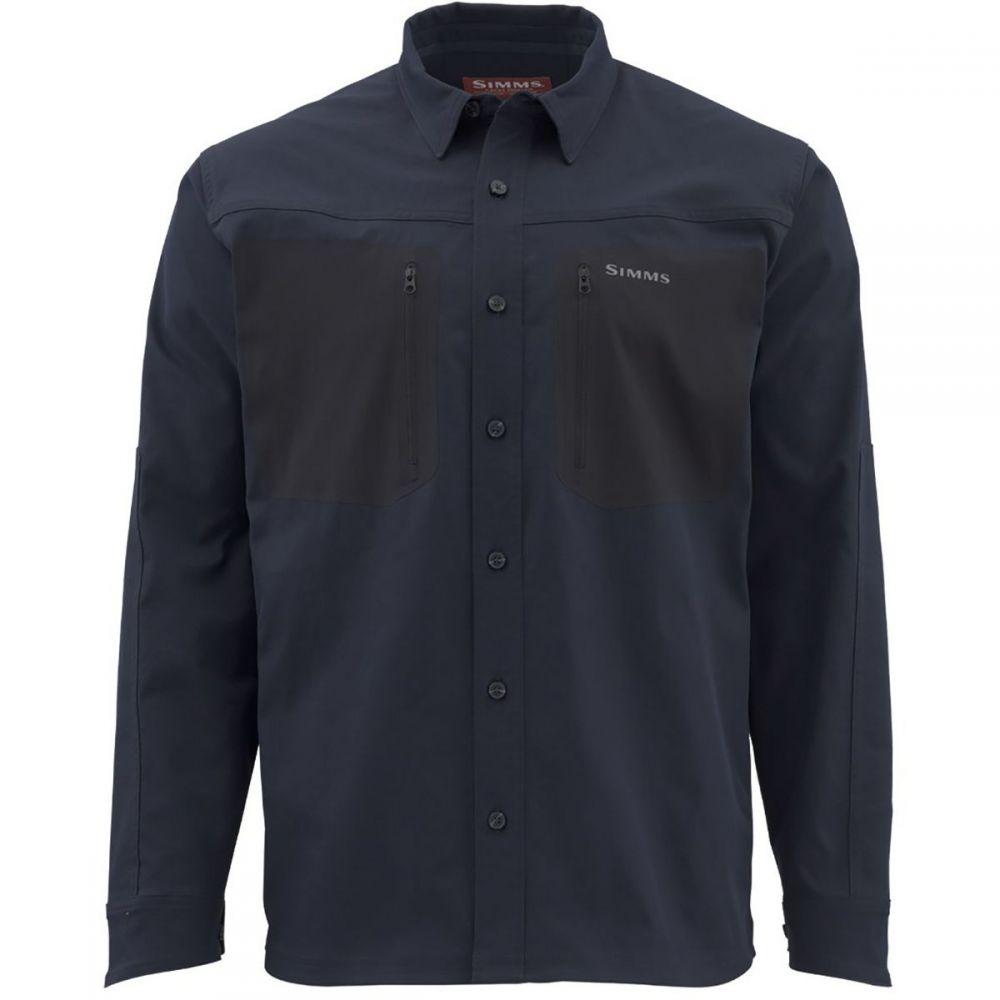 シムズ Simms メンズ 長袖Tシャツ トップス【Tongass Shirt】Admiral Blue