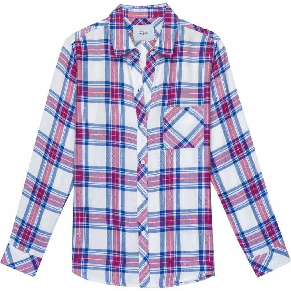レイルズ Rails レディース ブラウス・シャツ トップス【Hunter Long - Sleeve Button Up】White/Azure/Scarlet