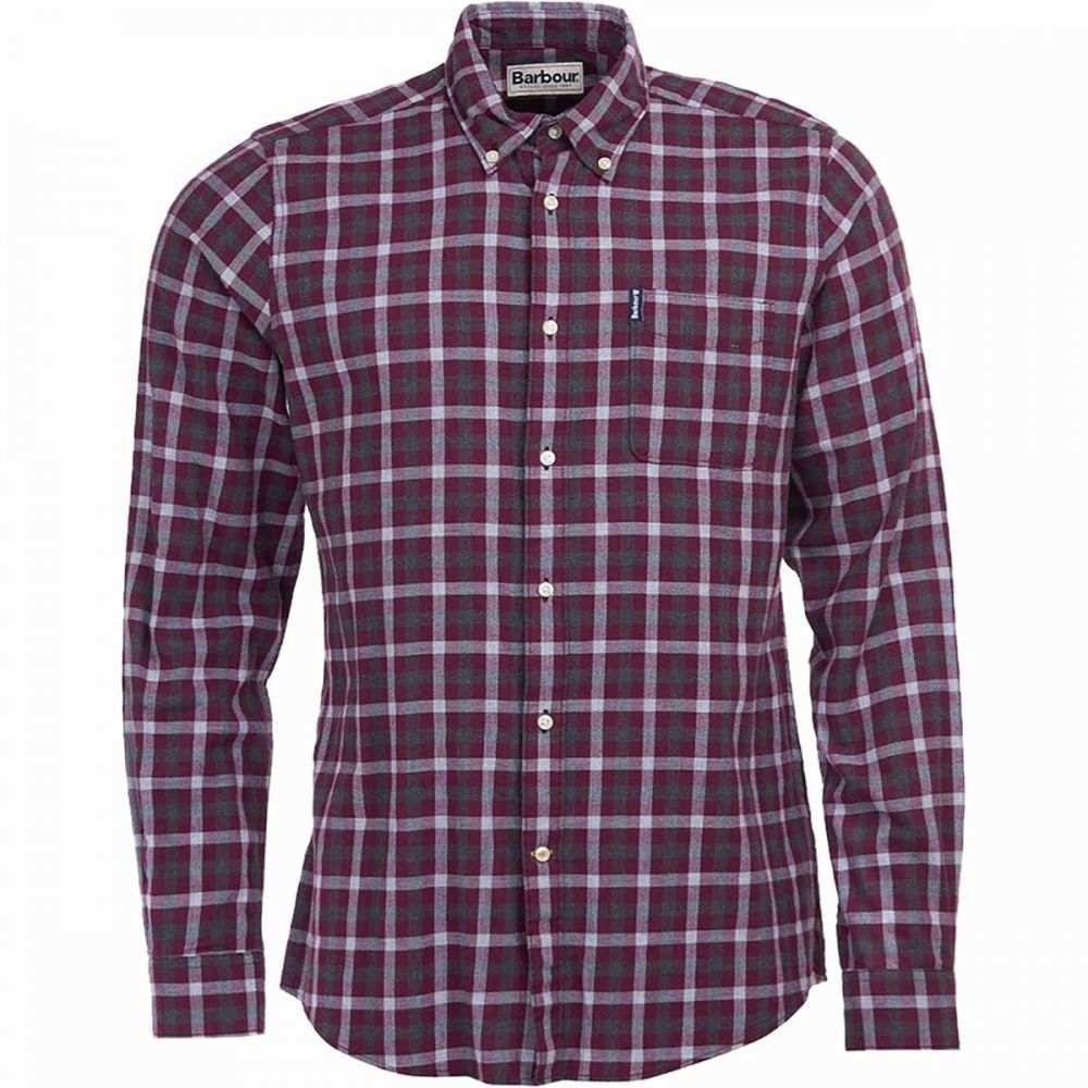 バブアー Barbour メンズ シャツ トップス【Gingham 16 Tailored Fit Shirt】Merlot