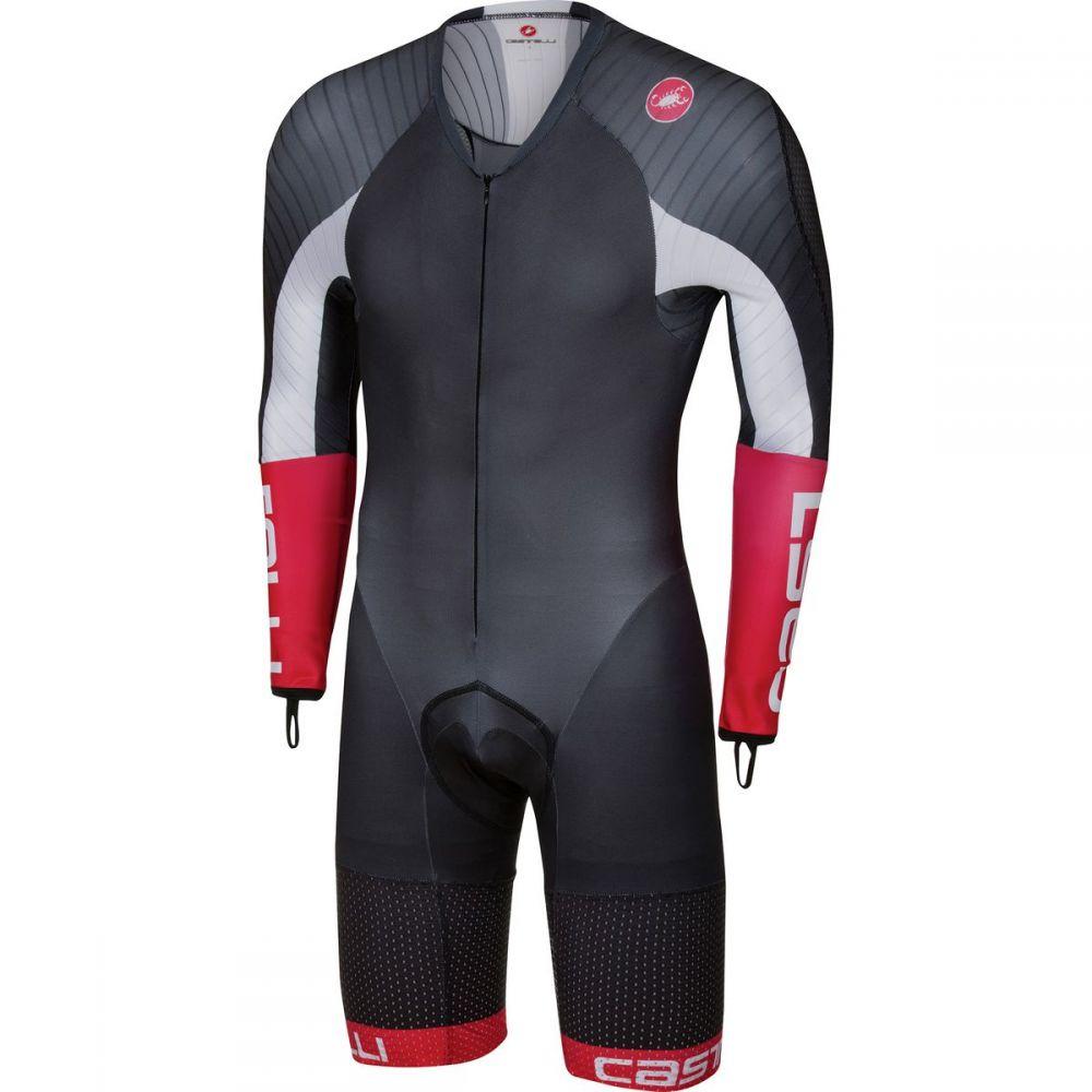 カステリ Castelli メンズ トライアスロン スピードスーツ トップス【Body Paint 3.3 Long - Sleeve Speed Suit】Black/White