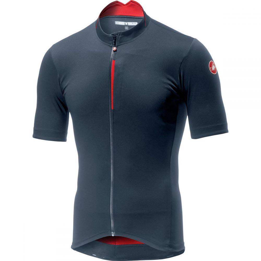 カステリ Castelli メンズ 自転車 トップス【Espresso Jersey】Dark Steel Blue/Red