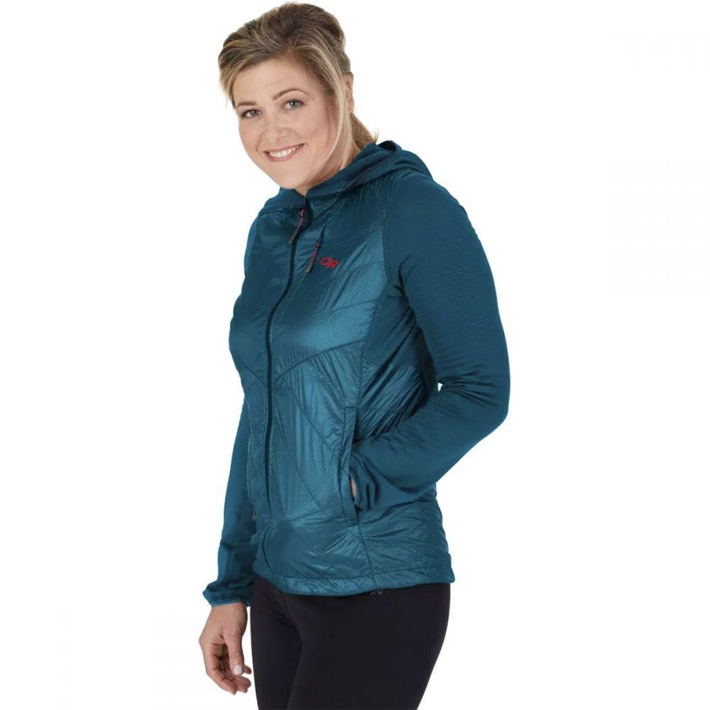 アウトドアリサーチ Outdoor Research レディース ジャケット フード アウター【Vigor Hybrid Hooded Jacket】Celestial Blue