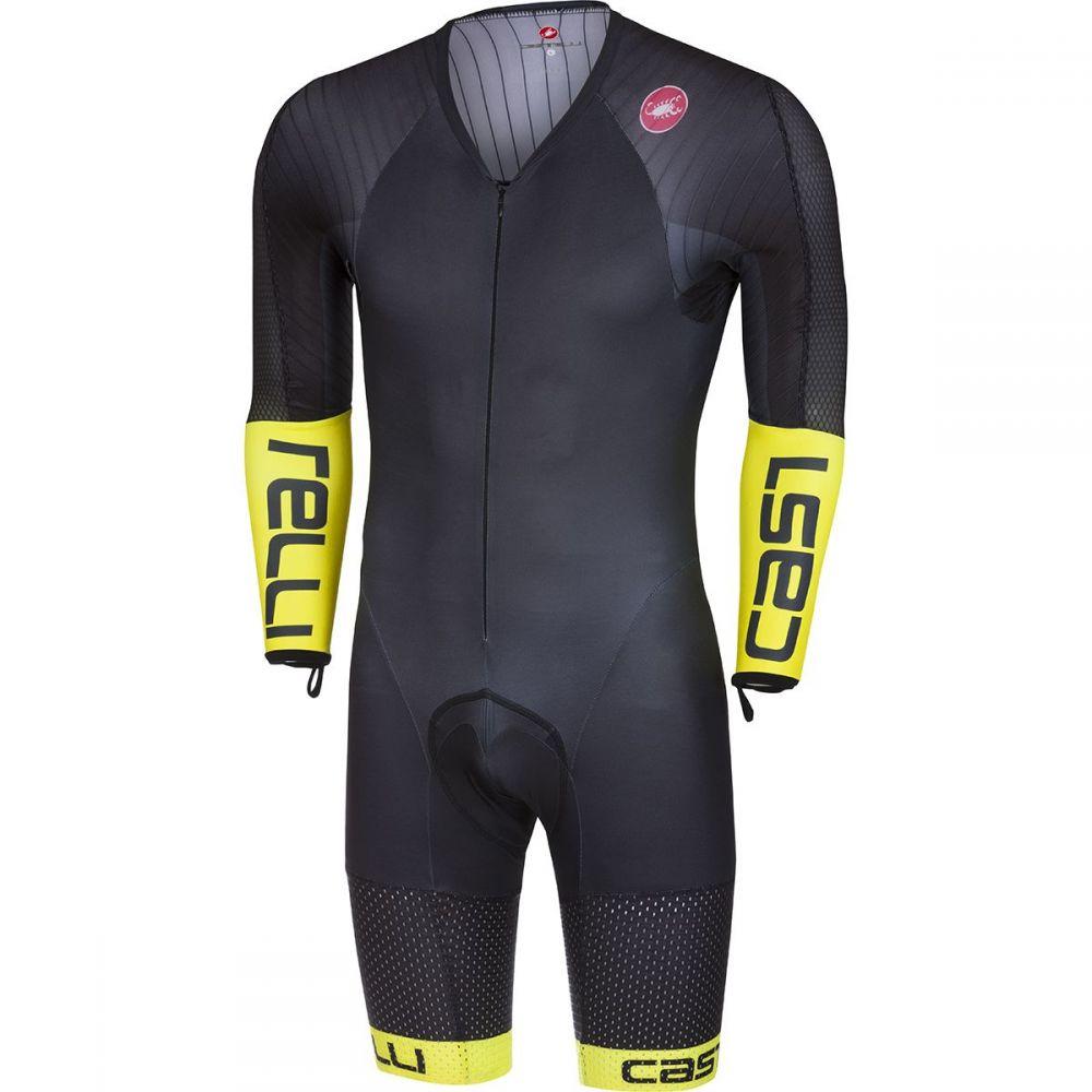 カステリ Castelli メンズ トライアスロン スピードスーツ トップス【Body Paint 3.3 Long - Sleeve Speed Suit】Black/Yellow Fluo