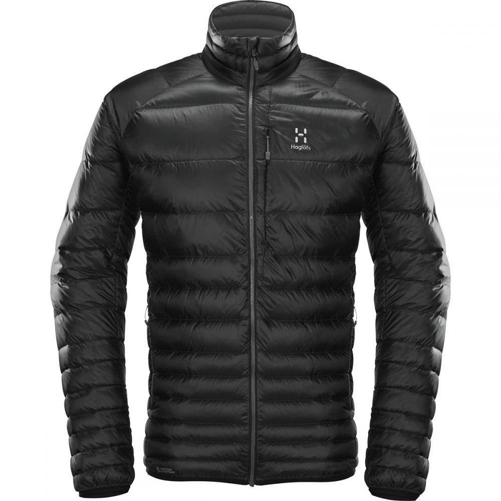 ホグロフス Haglofs メンズ ダウン・中綿ジャケット アウター【Essens Down Jacket】True Black/Magnetite