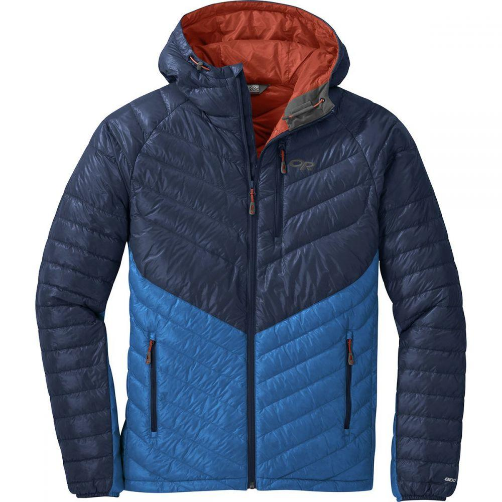 アウトドアリサーチ Outdoor Research メンズ ダウン・中綿ジャケット フード アウター【Illuminate Down Hooded Jacket】Naval Blue/Cobalt