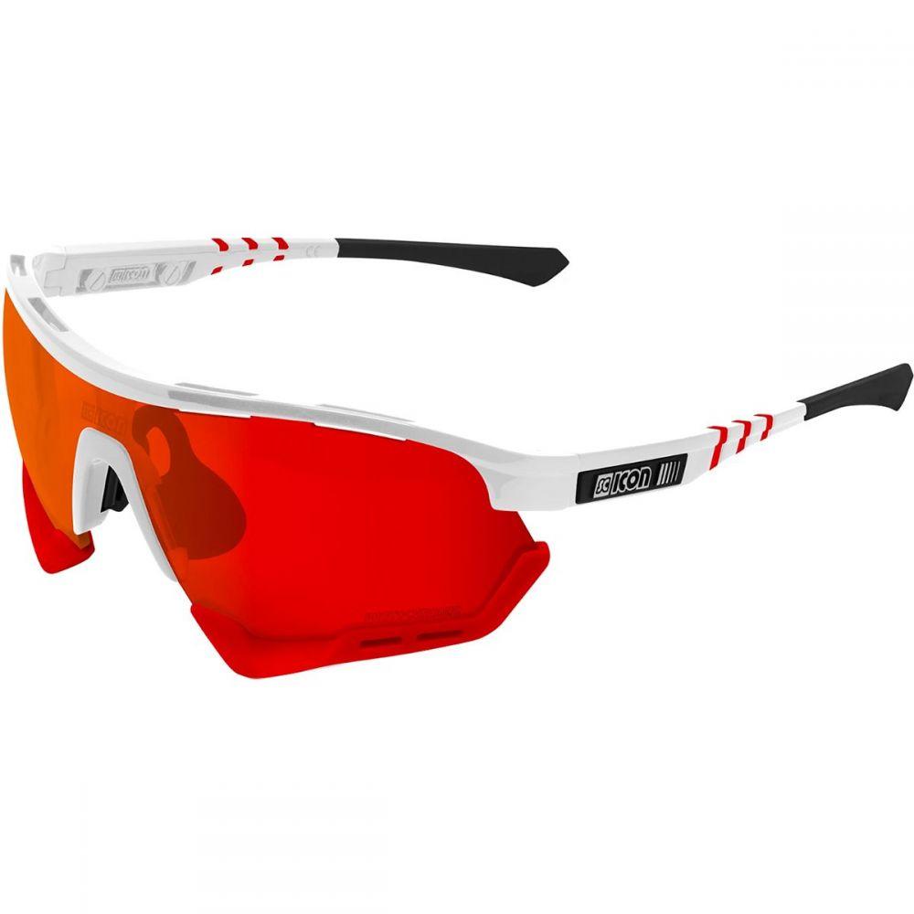 シーコン SciCon レディース スポーツサングラス 【AeroTech Sunglasses】Frozen Matte/Red-Photochromic Red Mirror Lens