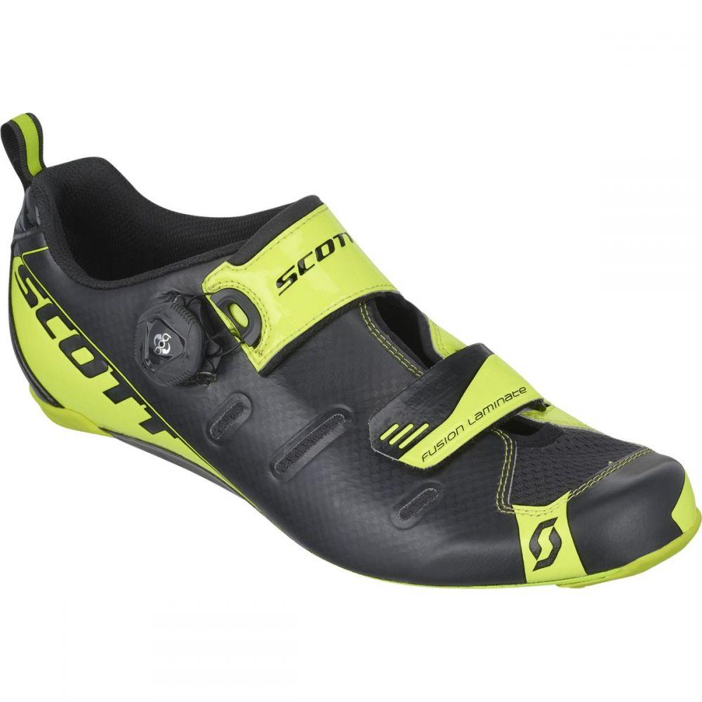 スコット Scott メンズ トライアスロン シューズ・靴【Tri Carbon Cycling Shoe】Black/Neon Yellow