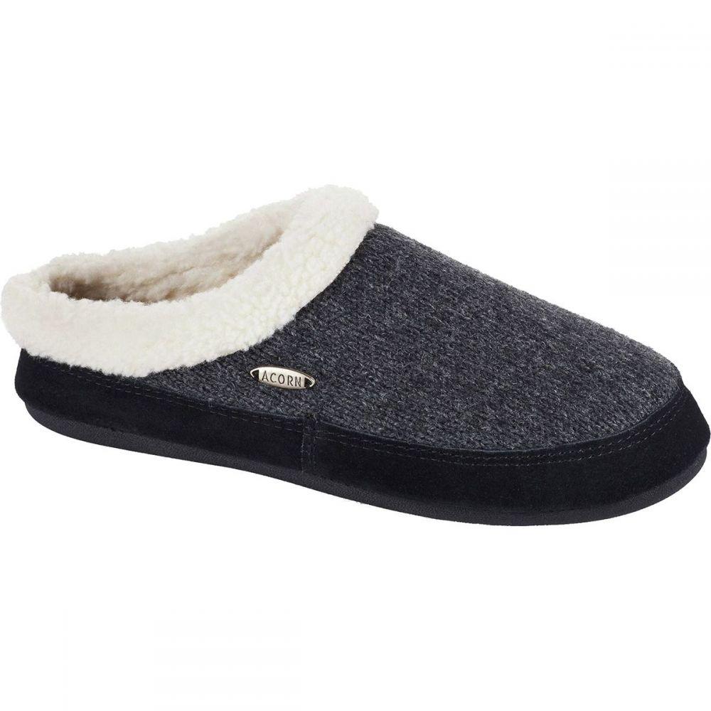 エーコーン Acorn レディース スリッパ シューズ・靴【Mule Ragg Slipper】Charcoal Heather