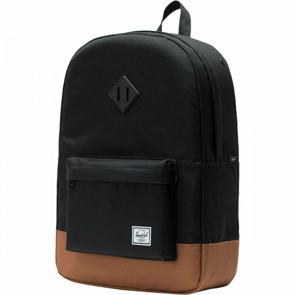 ハーシェル サプライ Herschel Supply レディース バックパック・リュック バッグ【Heritage 21.5L Backpack】Black/Saddle Brown