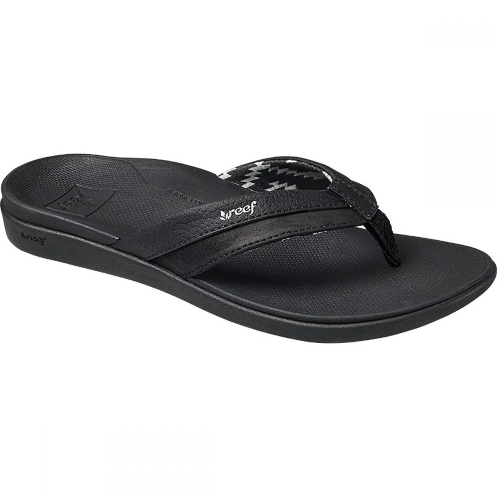 リーフ Reef レディース ビーチサンダル シューズ・靴【Ortho - Bounce Coast Flip Flop】Black