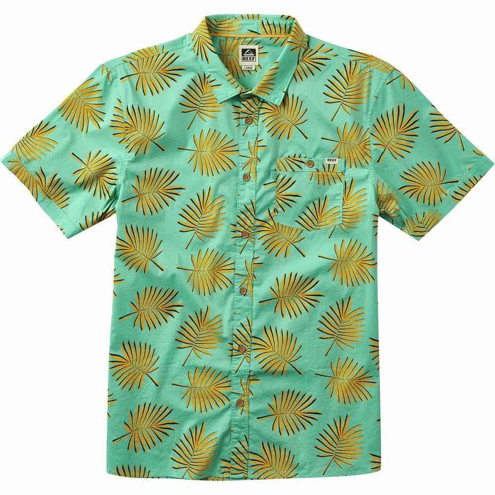 リーフ Reef メンズ 半袖シャツ トップス【Frond Short - Sleeve Shirt】Aqua