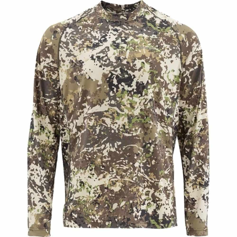 シムズ Simms メンズ 釣り・フィッシング トップス【SolarFlex Long - Sleeve Crewneck Print Shirt】River Camo