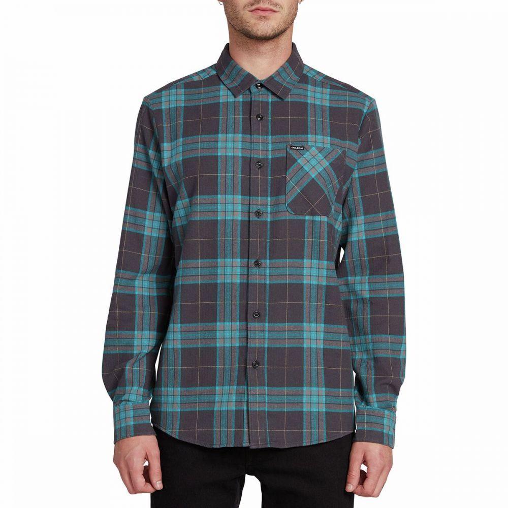 ボルコム Volcom メンズ シャツ トップス【Caden Plaid Shirt】Asphalt Black