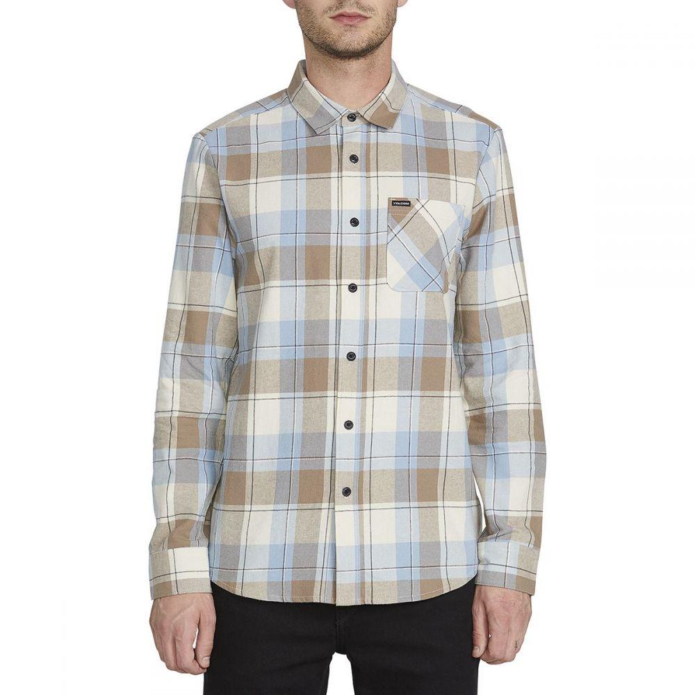 ボルコム Volcom メンズ シャツ トップス【Caden Plaid Shirt】White Flash
