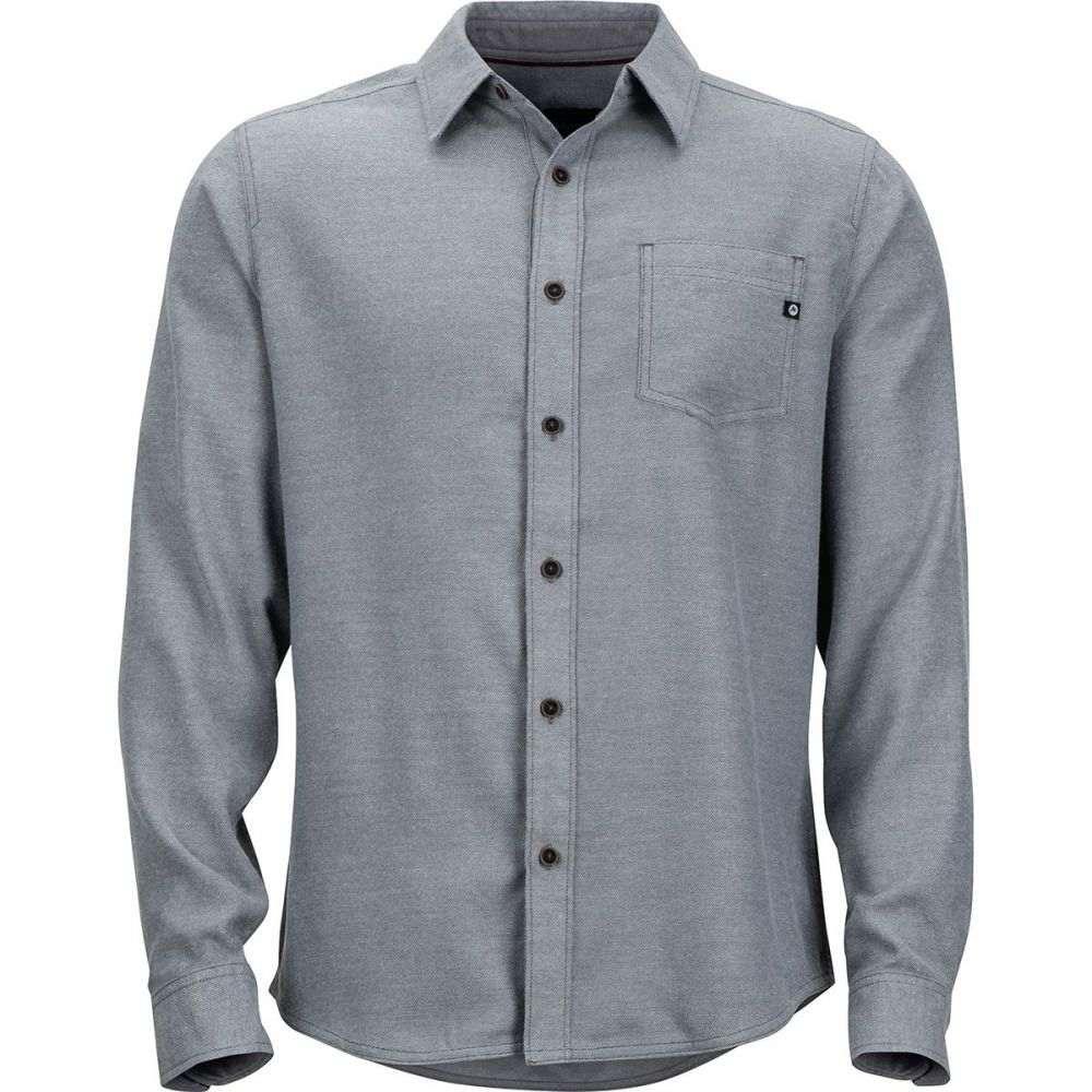 マーモット Marmot メンズ シャツ フランネルシャツ トップス【Hobson Midweight Flannel Long - Sleeve Shirt】Steel Onyx Heather