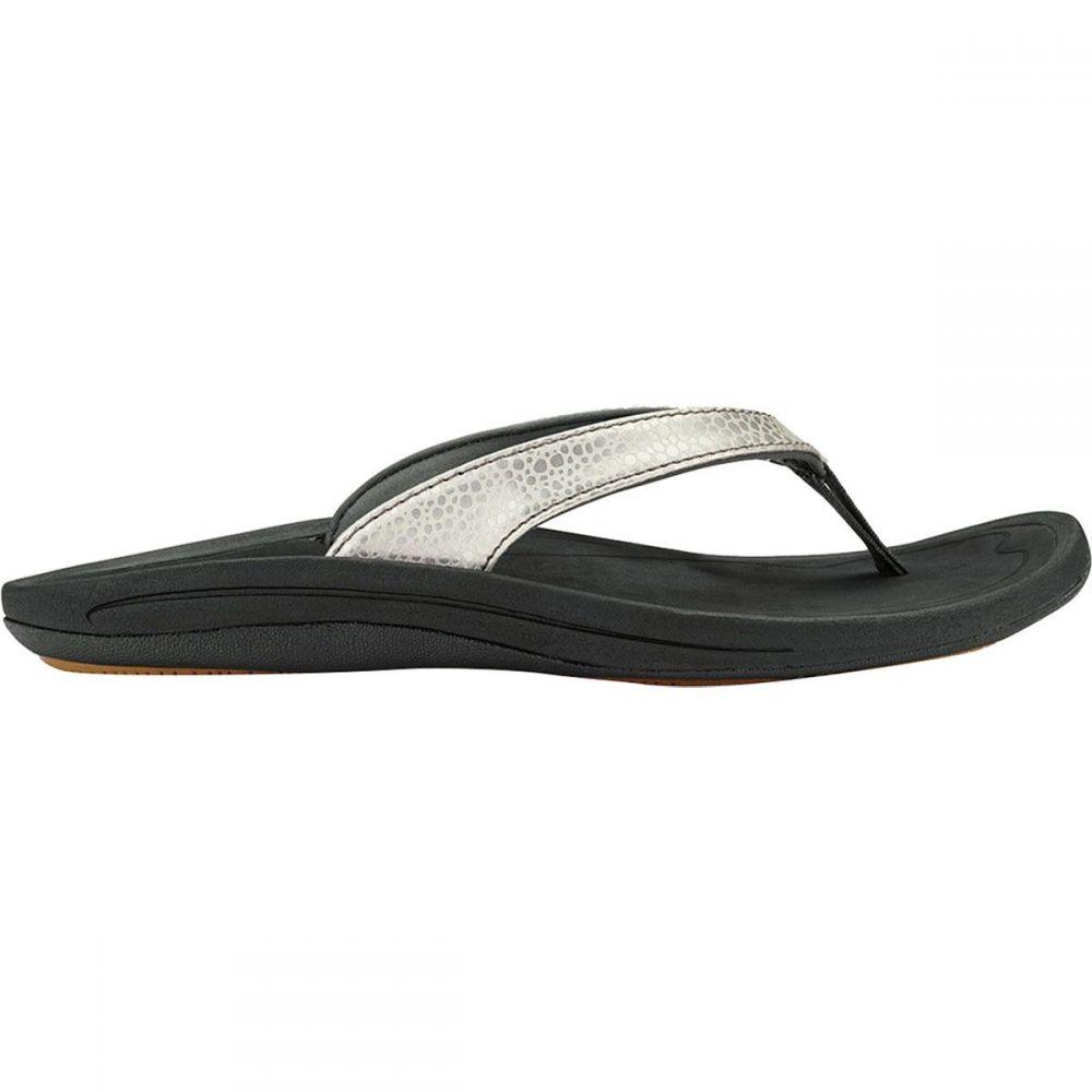 オルカイ Olukai レディース ビーチサンダル シューズ・靴【Kulapa Kai Flip Flop】Silver/Black