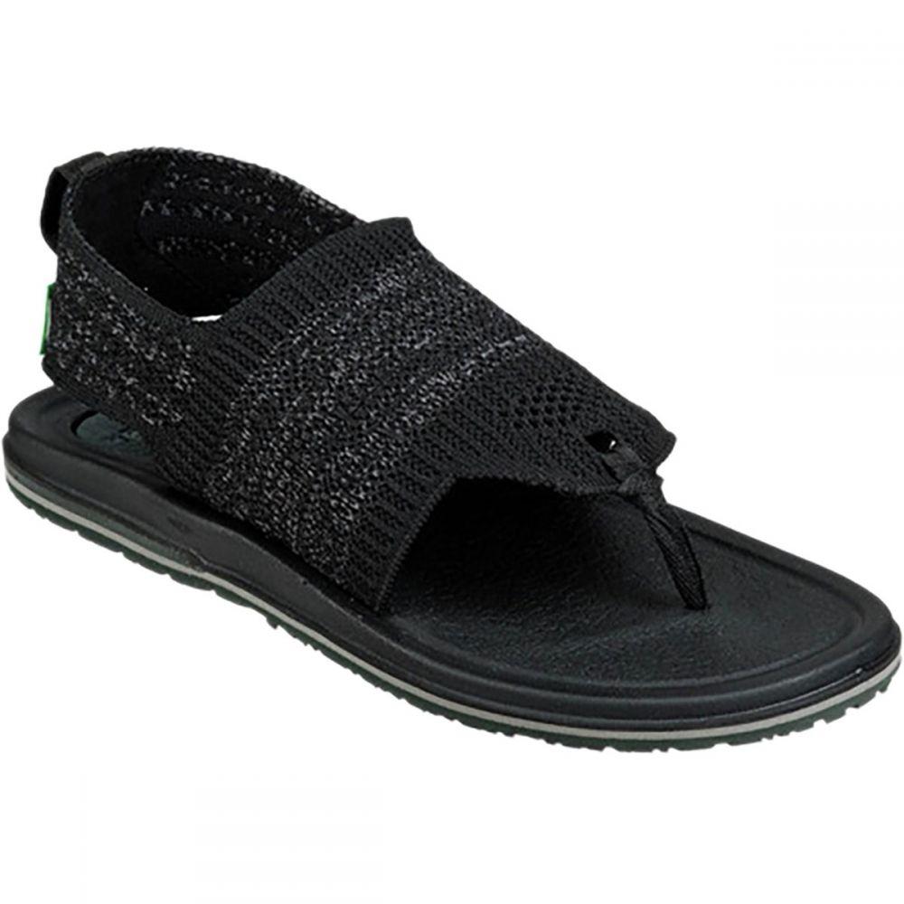 サヌーク Sanuk レディース サンダル・ミュール シューズ・靴【Yoga Sling 3 Knit Sandal】Black