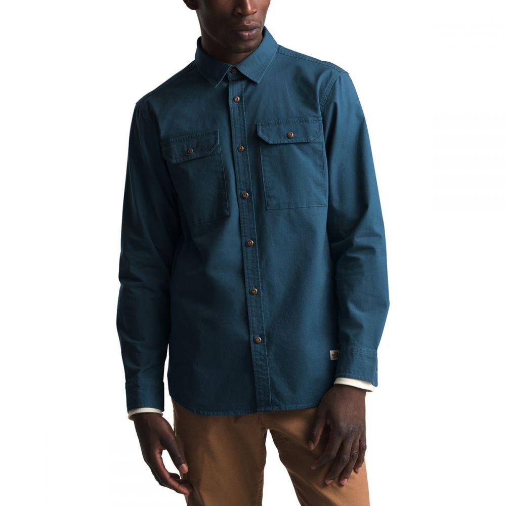 ザ ノースフェイス The North Face メンズ シャツ トップス【Battlement Long - Sleeve Utility Shirt】Blue Wing Teal