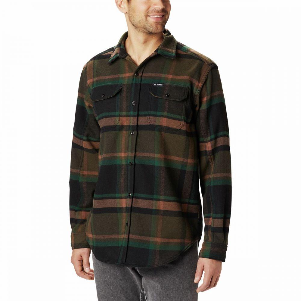 コロンビア Columbia メンズ シャツ トップス【Deschutes River Heavyweight Flannel】Olive Green Oversized Check