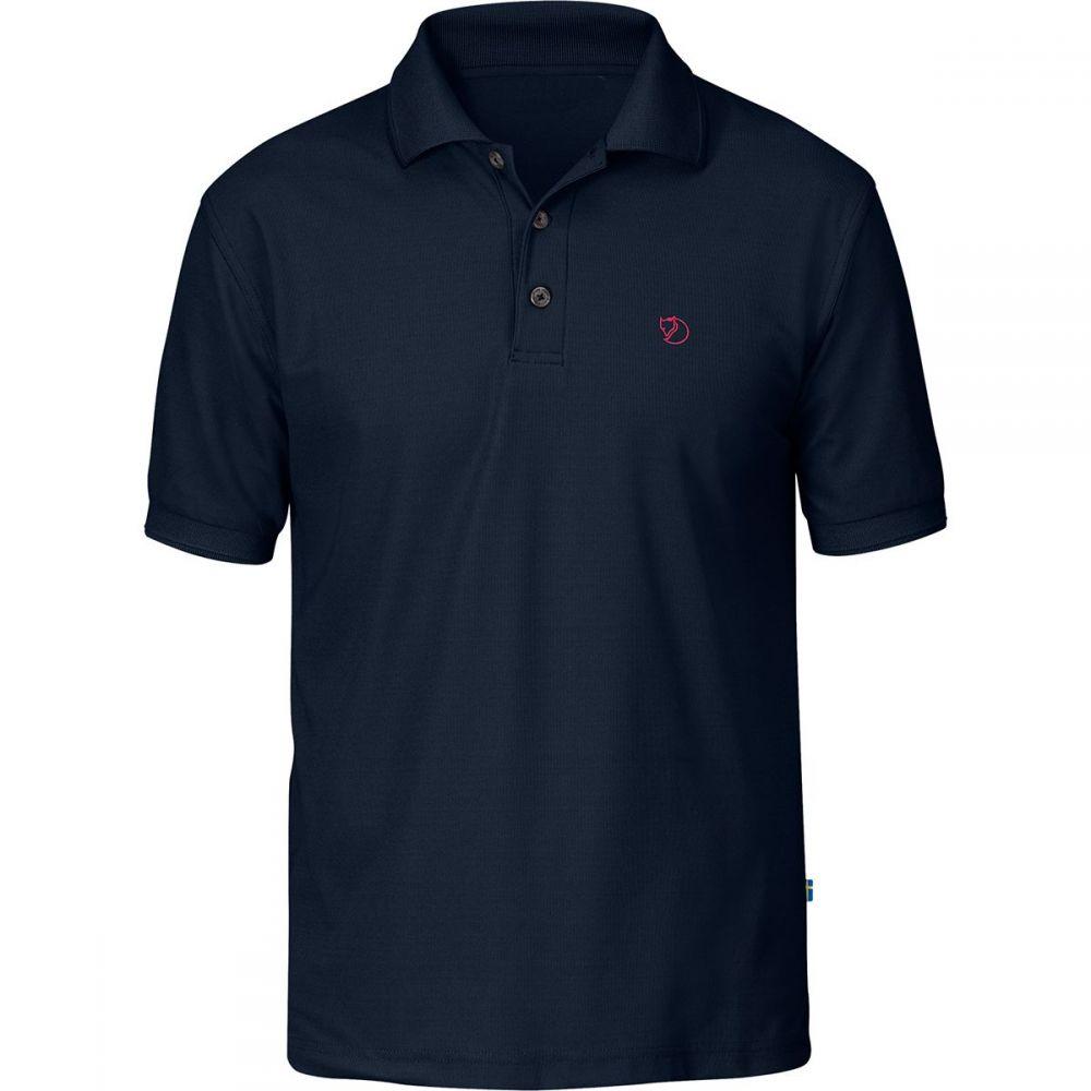 フェールラーベン Fjallraven メンズ ポロシャツ トップス【Crowley Pique Short - Sleeve Shirt】Blueblack