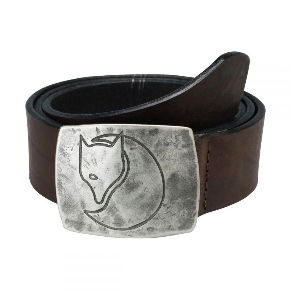 フェールラーベン Fjallraven メンズ ベルト 【Murena Silver Belt】Leather Brown