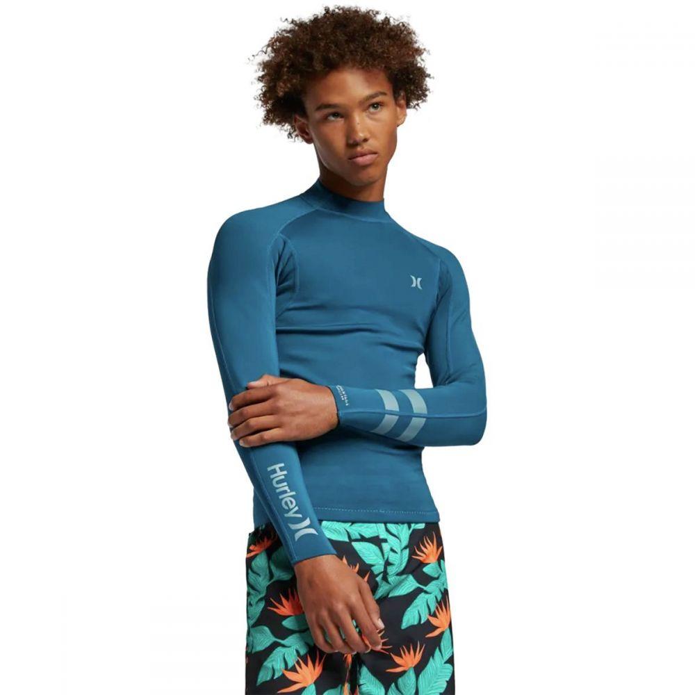 ハーレー Hurley メンズ ラッシュガード ジャケット 水着・ビーチウェア【Advantage Plus 1/1 Jacket】Blue Force
