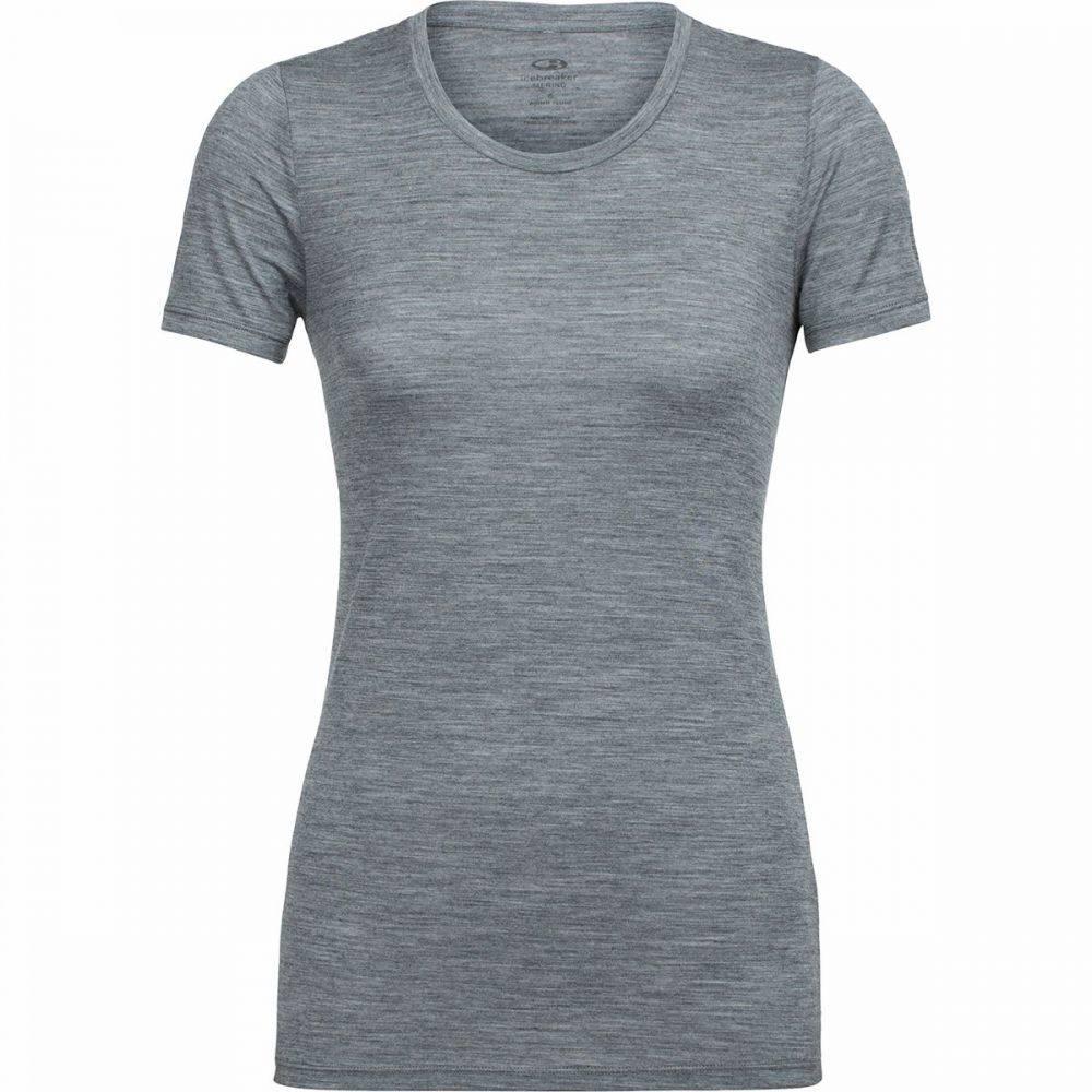 アイスブレーカー Icebreaker レディース Tシャツ トップス【Tech Lite SS Low Crewe Shirt】Gritstone Heather