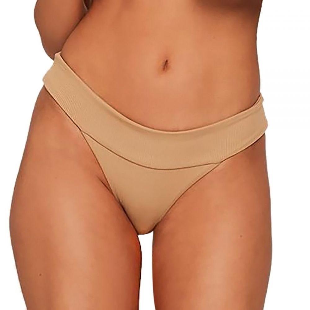 エルスペース L Space レディース ボトムのみ 水着・ビーチウェア【Ridin' High Ribbed Veronica Bikini Bottom】Camel