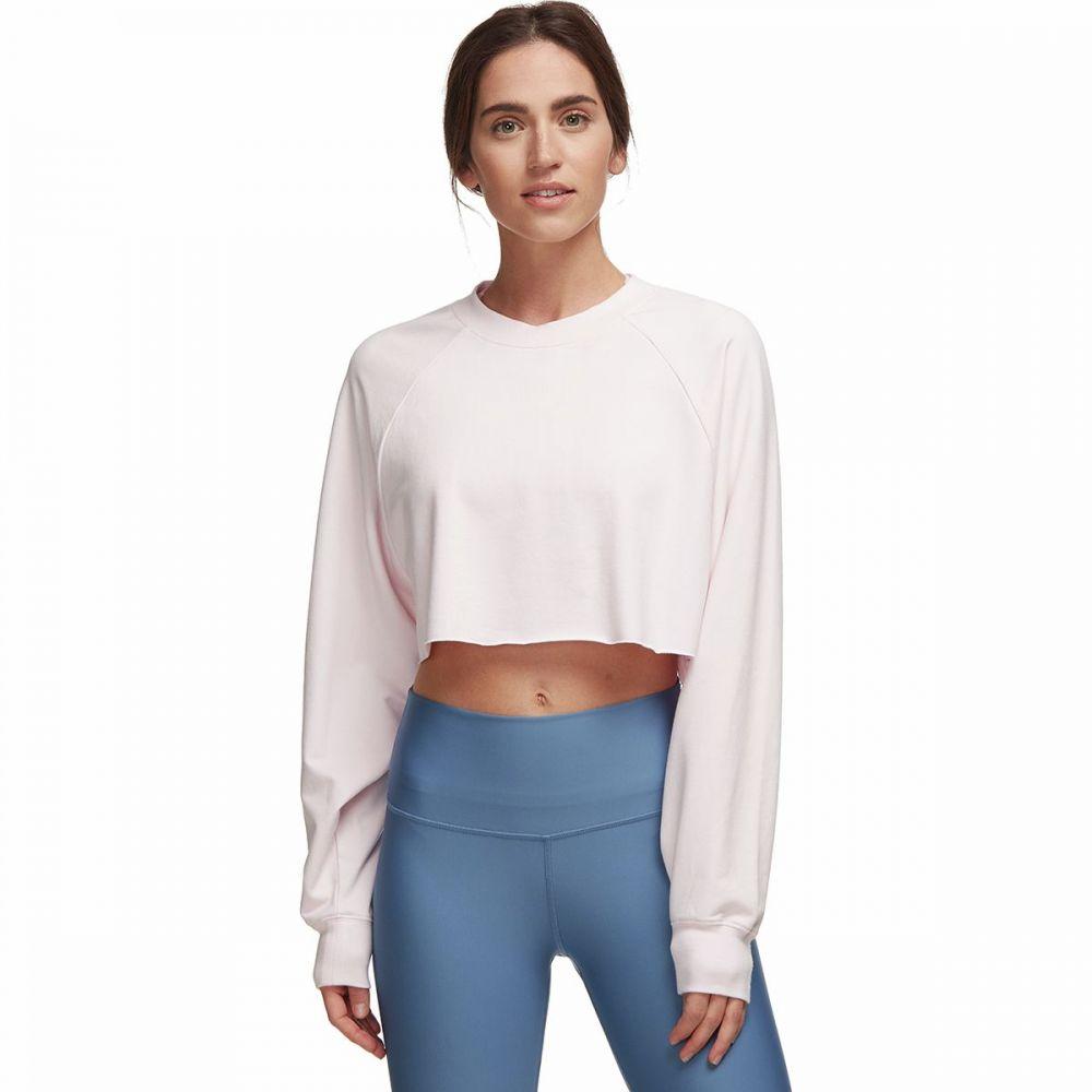 アローヨガ ALO YOGA レディース スウェット・トレーナー トップス【Double Take Pullover Sweatshirt】Soft Pink