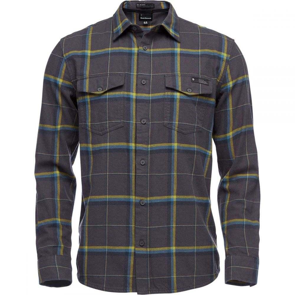 ブラックダイヤモンド Black Diamond メンズ シャツ フランネルシャツ トップス【Valley Flannel Shirt】Carbon/Astral Blue Plaid