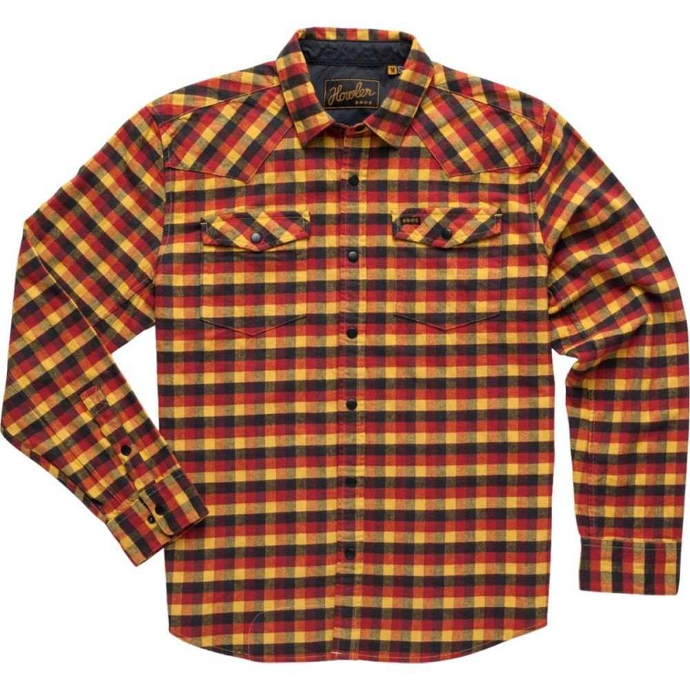 ホウラーブラザーズ Howler Brothers メンズ シャツ トップス【Stockman Stretch Snap Shirt】Pilgrim Plaid: Mellow Gold