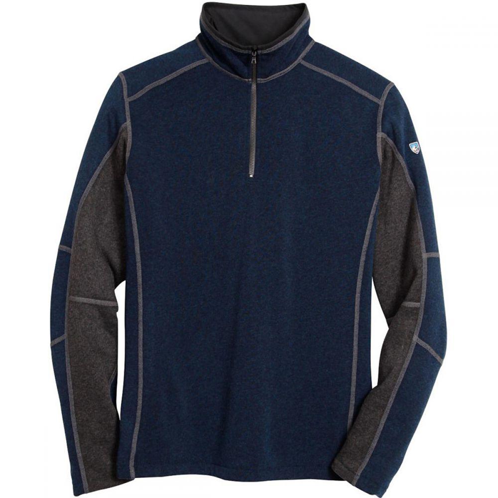 キュール KUHL メンズ フリース トップス【Revel 1/4 - Zip Sweater】Navy/Steel