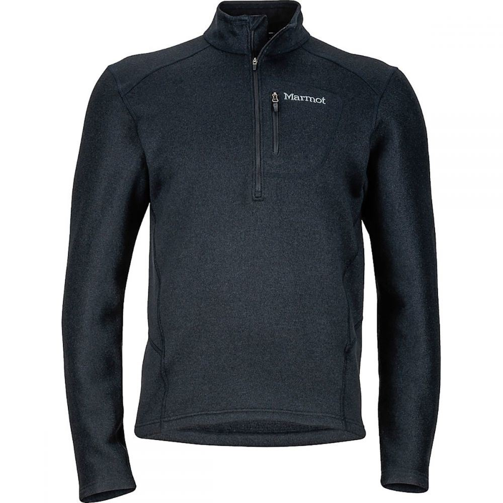 マーモット Marmot メンズ フリース ハーフジップ トップス【Drop Line 1/2 - Zip Fleece Jacket】Black