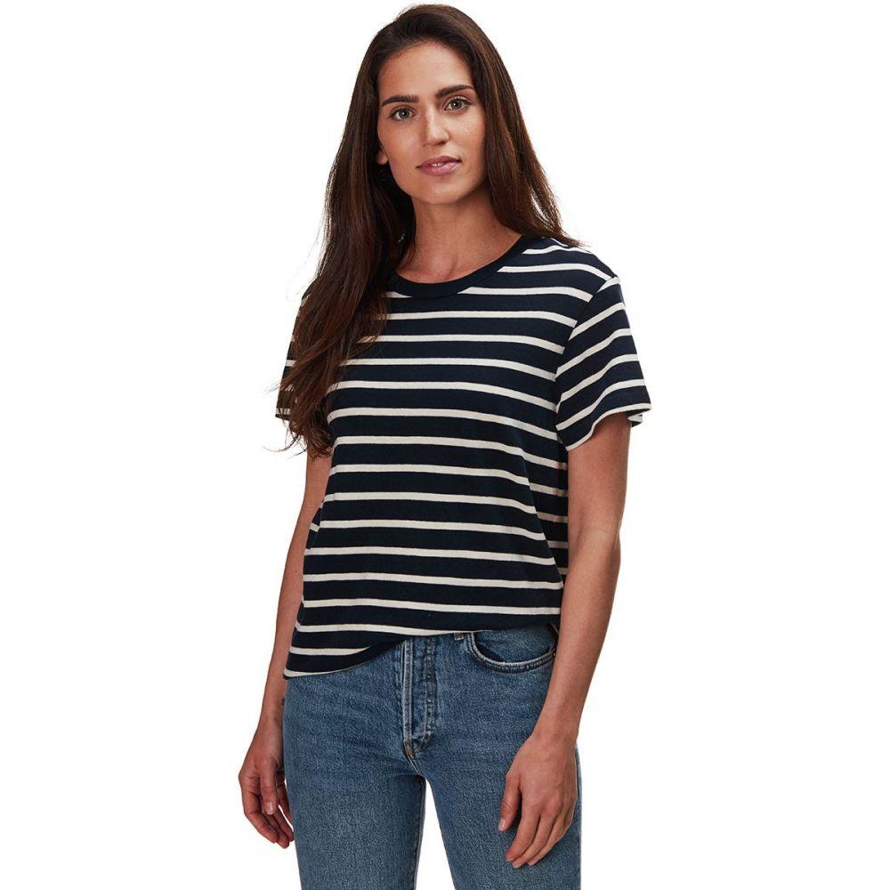 モンロー Monrow レディース トップス 【Stripe Vintage Crew Shirt】Natural