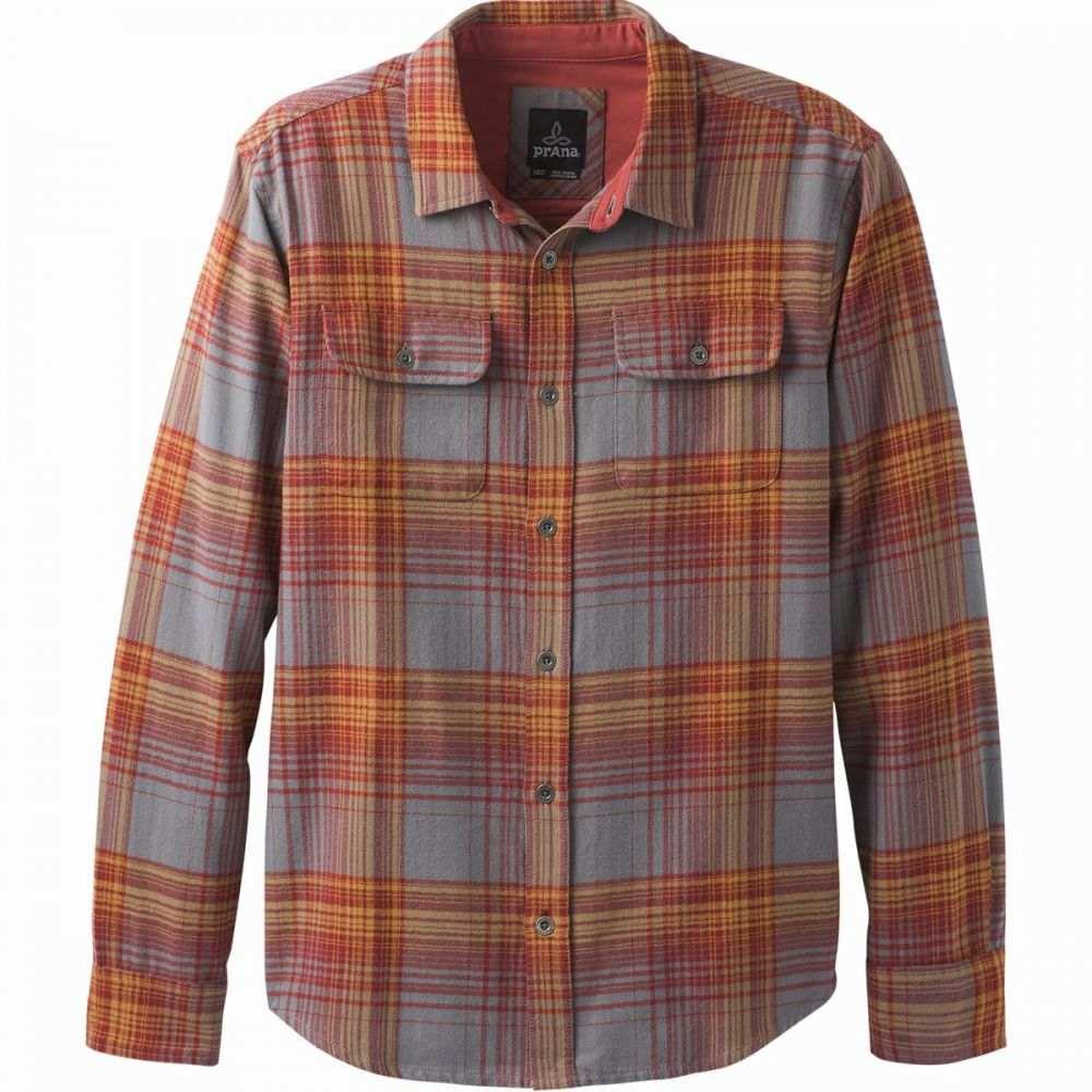 プラーナ Prana メンズ シャツ フランネルシャツ トップス【Lybek Flannel Shirt】Gravel Plaid