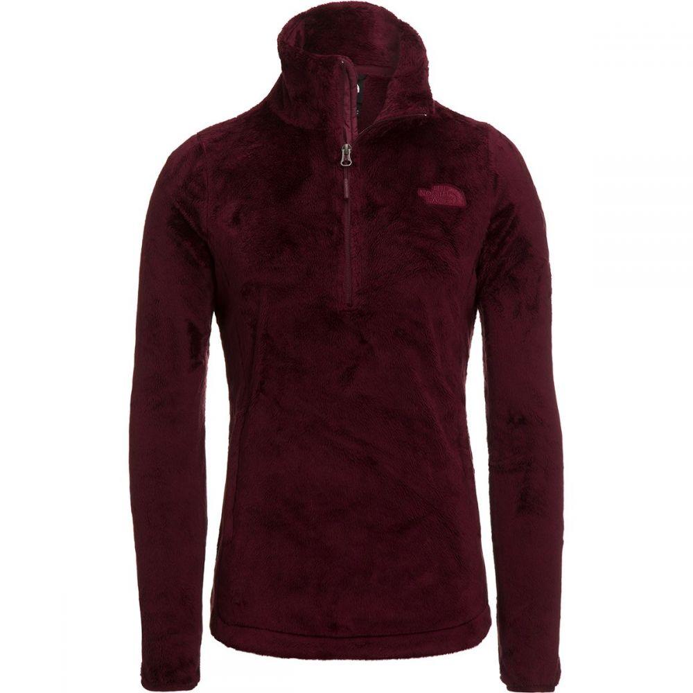 ザ ノースフェイス The North Face レディース フリース トップス【Osito 1/4 - Zip Fleece Pullover】Deep Garnet Red