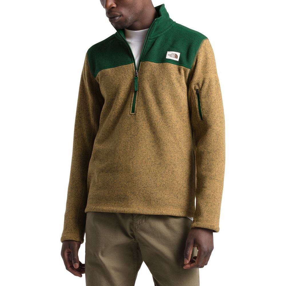 ザ ノースフェイス The North Face メンズ フリース トップス【Gordon Lyons 1/4 - Zip Fleece Pullover】British Khaki Heather/Night Green Heather